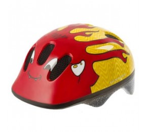 KIDS HELMET RED YELLOW
