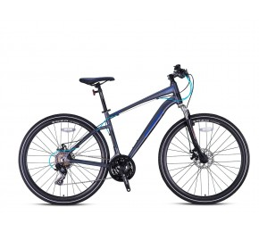 KRON TX 100 28 21SP M DISC MATT LIGHT GREY-BLUE/BLACK