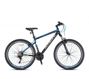 KRON XC 75 26 21SP M DISC MATT BLACK-BLUE/WHITE