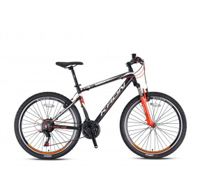 KRON XC 75 26 21SP M DISC MATT BLACK-ORANGE/WHITE